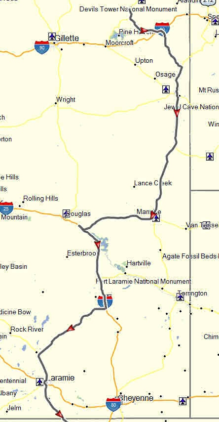 Eastern wyoming don moes travel website my route from devils tower to publicscrutiny Choice Image