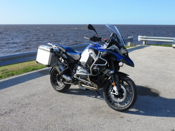 My 2015 BMW R1200GS Adventure at Port Mayaca on the eastern side of Lake Okeechobee, Florida