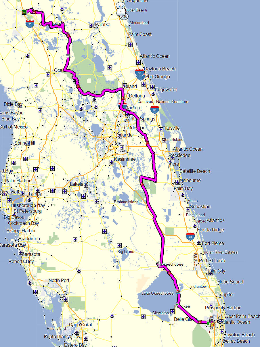 Alachua Florida Map.Just For Fun Ride To Alachua 11 2011 Don Moe S Travel Website