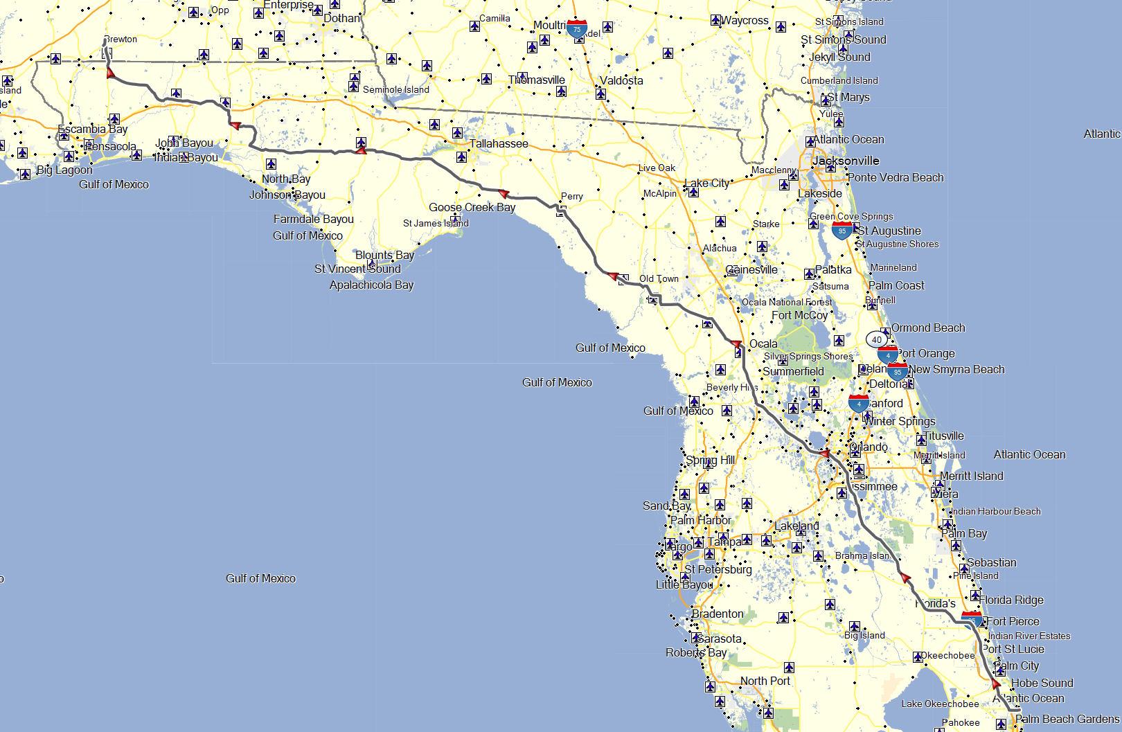 Florida Don Moes Travel Website - Florida map jupiter