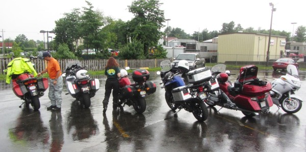 Getting ready to ride after the rain stopped
