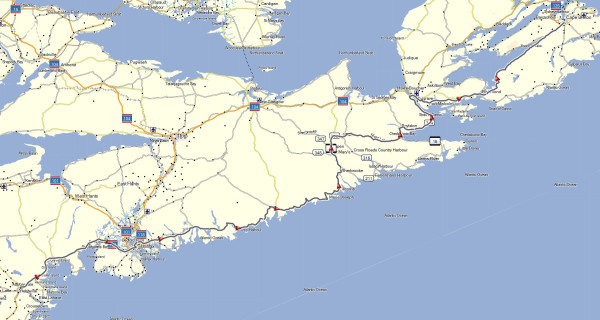My route from Bridgewater to Sydney