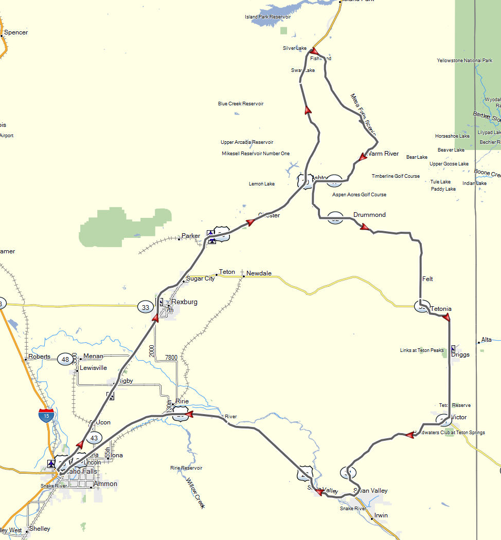 Idaho Falls Mesa Falls Tour Don Moes Travel Website