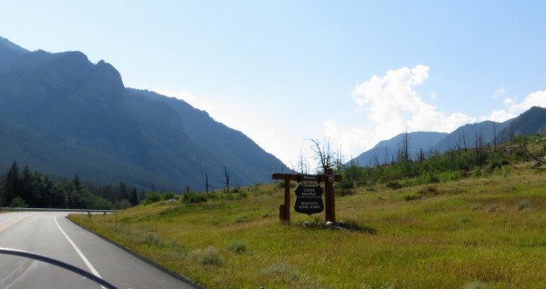 Entering the Custer National Forest along  the Beartooth Scenic Highway