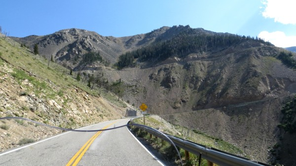 View ahead along Beartooth Scenic Hwy