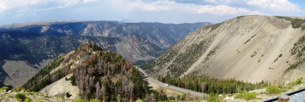 Panoramic photo to the north from Beartooth Scenic Hwy