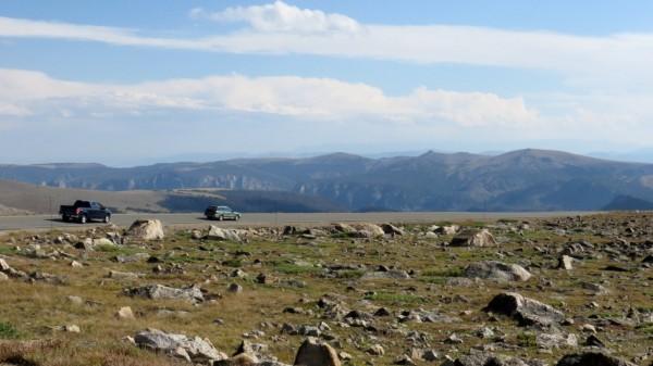 Barren terrain at the higher elevation