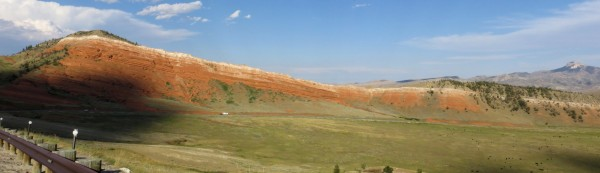 Panoramic view of another red sandstone bluff
