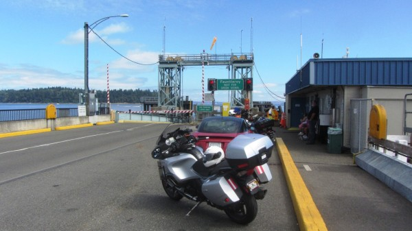 Waiting for the ferry at the Southworth terminal