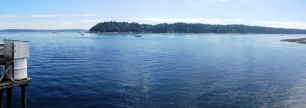 View of Vashon Island from Southworth