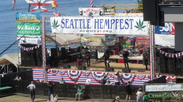 The Seattle Hempfest main stage