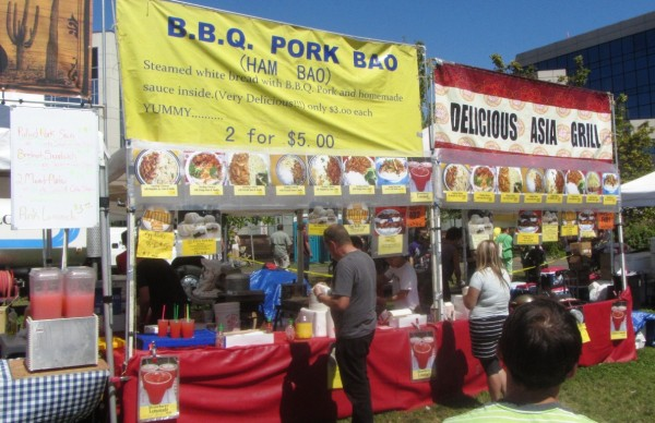 Many food stands offered a variety of items