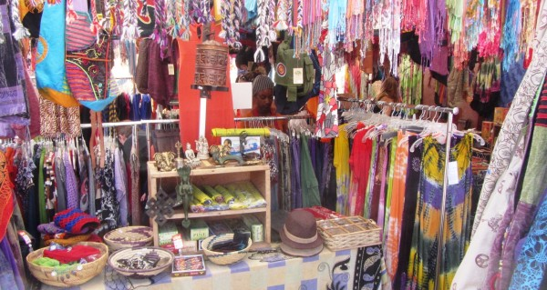 Clothing and incense were some of the items for sale