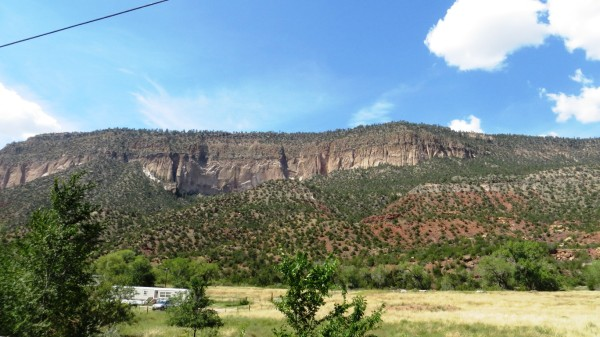 Large mesa to the west of Jemez Springs