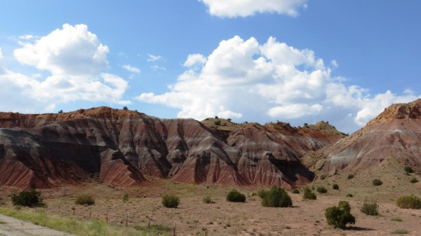 Colored rock formations