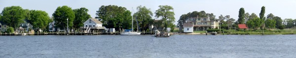 Panoramic view across Wicomico River from the ferry landing