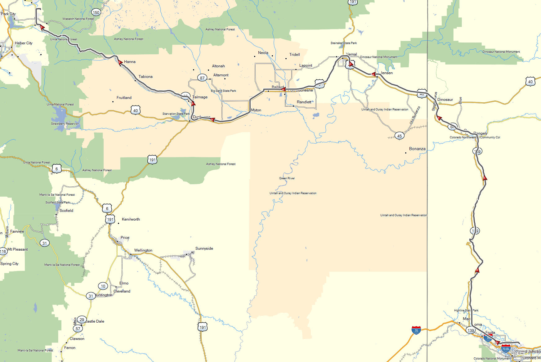 Grand Junction, CO to Kamas, UT | Don Moe\'s Travel Website