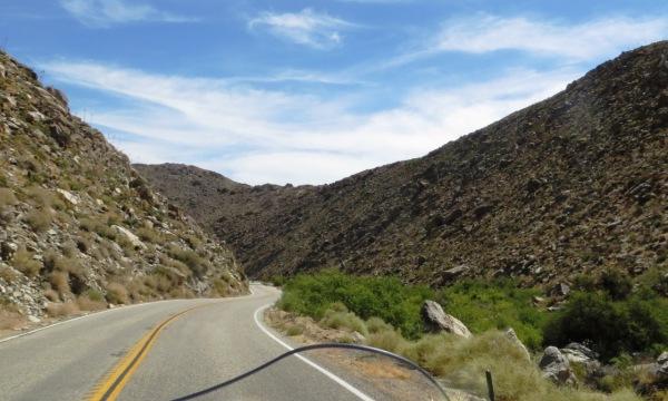 Entering a canyon leading into the Anza-Borrego Desert State Park