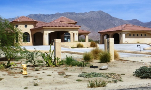 A new, but still vacant home near the Borrego Springs Resort and Country Club