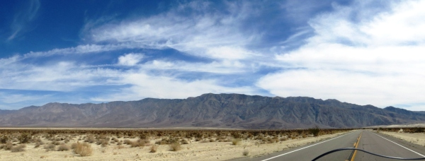 Panoramic view to the northeast from Borrego Springs