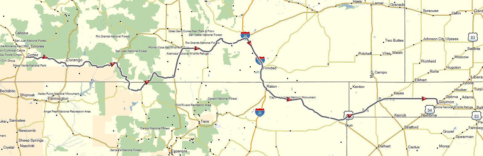 Cortez, CO to Springdale, AR (June 19-20, 2015) | Don Moe\'s Travel ...