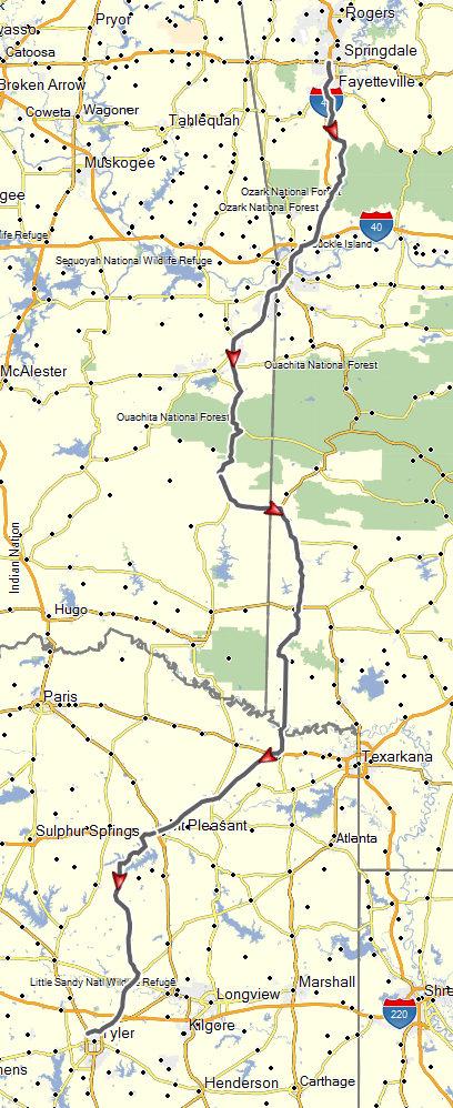 Springdale, AR to Houston, TX (June 25-26, 2015) | Don Moe\'s Travel ...