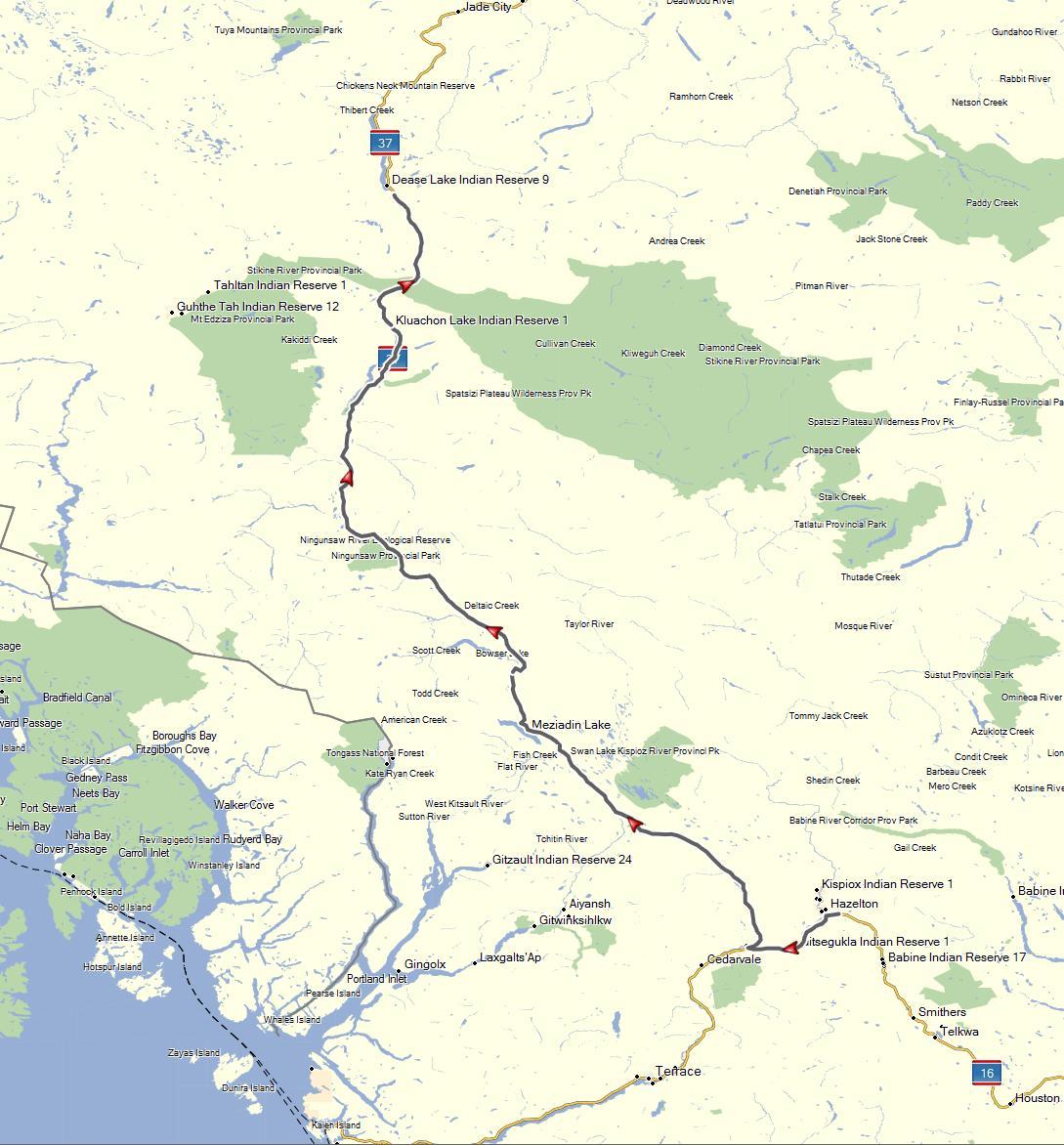 dease lake bc map New Hazelton Bc To Dease Lake Bc August 9 2015 Don Moe S dease lake bc map