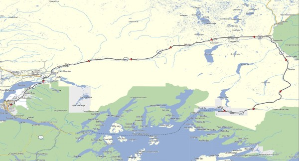 My route from Valdez, AK to Anchorage, AK