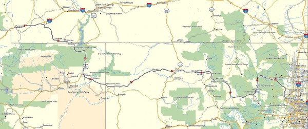 My route from Evanston, WY to Boulder, CO